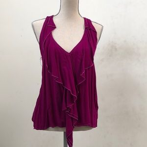 Jewel toned fuschia tank top
